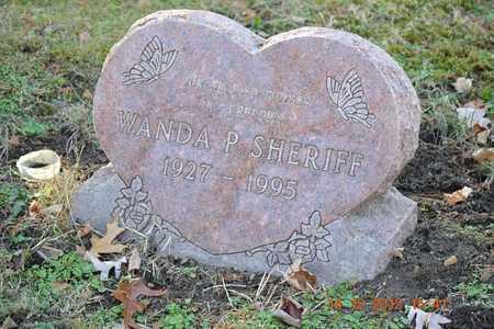 SHERIFF, WANDA P. - Branch County, Michigan | WANDA P. SHERIFF - Michigan Gravestone Photos