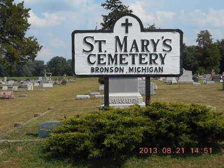 SIGN, CEMETERY - Branch County, Michigan   CEMETERY SIGN - Michigan Gravestone Photos