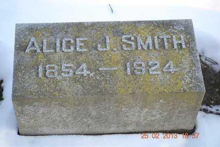 SMITH, ALICE J. - Branch County, Michigan | ALICE J. SMITH - Michigan Gravestone Photos