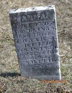 SMITH, ANNA - Branch County, Michigan | ANNA SMITH - Michigan Gravestone Photos