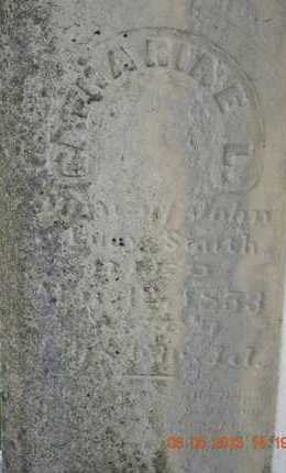 SMITH, CATHERINE L.(CLOSEUP) - Branch County, Michigan | CATHERINE L.(CLOSEUP) SMITH - Michigan Gravestone Photos