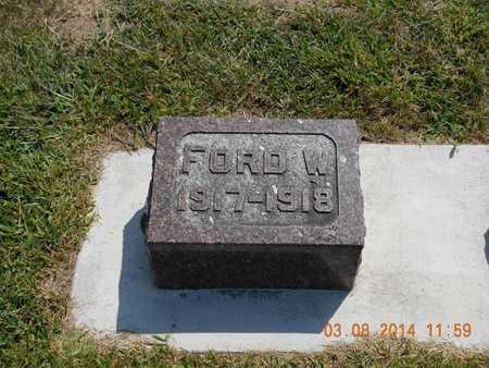 SMITH, FORD W. - Branch County, Michigan   FORD W. SMITH - Michigan Gravestone Photos