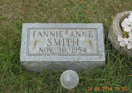 SMITH, FANNIE ANNE - Branch County, Michigan | FANNIE ANNE SMITH - Michigan Gravestone Photos