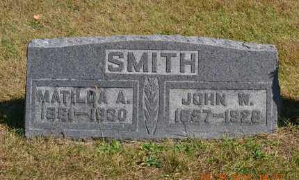 SMITH, MATILDA A. - Branch County, Michigan   MATILDA A. SMITH - Michigan Gravestone Photos