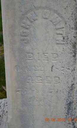 SMITH, JOHN(CLOSEUP) - Branch County, Michigan | JOHN(CLOSEUP) SMITH - Michigan Gravestone Photos
