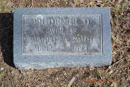 SMITH, PRUDENCE D. - Branch County, Michigan | PRUDENCE D. SMITH - Michigan Gravestone Photos