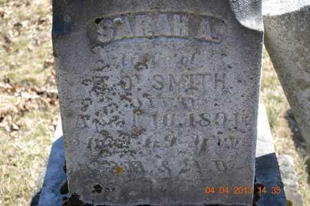 SMITH, SARAH A. - Branch County, Michigan   SARAH A. SMITH - Michigan Gravestone Photos