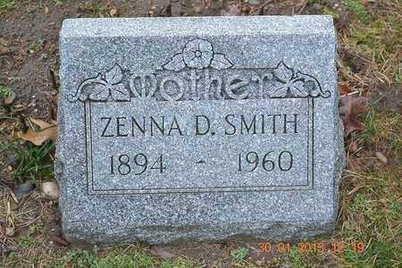 SMITH, ZENNA D. - Branch County, Michigan | ZENNA D. SMITH - Michigan Gravestone Photos