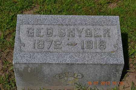 SNYDER, GEORGE - Branch County, Michigan | GEORGE SNYDER - Michigan Gravestone Photos