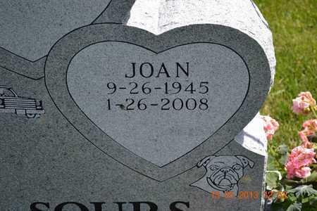 SOURS, JOAN(CLOSEUP) - Branch County, Michigan   JOAN(CLOSEUP) SOURS - Michigan Gravestone Photos
