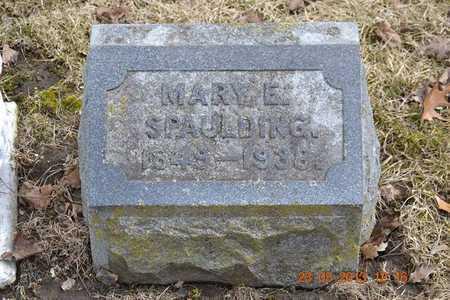 SPAULDING, MARY E. - Branch County, Michigan | MARY E. SPAULDING - Michigan Gravestone Photos