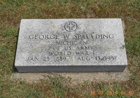 SPAULDING, PVT GEORGE W. - Branch County, Michigan | PVT GEORGE W. SPAULDING - Michigan Gravestone Photos