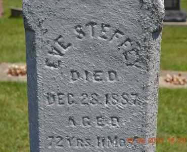 STEFFEY, EVE - Branch County, Michigan   EVE STEFFEY - Michigan Gravestone Photos