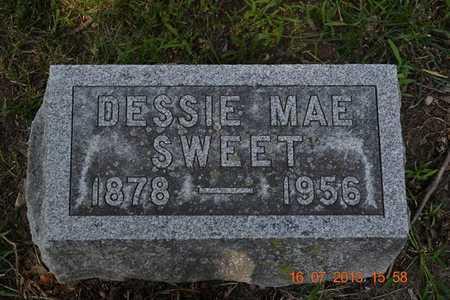 SWEET, DESSIE - Branch County, Michigan | DESSIE SWEET - Michigan Gravestone Photos