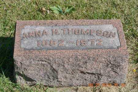 THOMPSON, ANNA H. - Branch County, Michigan | ANNA H. THOMPSON - Michigan Gravestone Photos