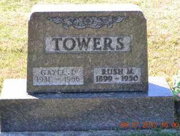 TOWERS, RUSH M. - Branch County, Michigan | RUSH M. TOWERS - Michigan Gravestone Photos