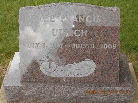 ULRICH, LEE FRANCIS - Branch County, Michigan | LEE FRANCIS ULRICH - Michigan Gravestone Photos