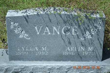 VANCE, LYLLA M. - Branch County, Michigan | LYLLA M. VANCE - Michigan Gravestone Photos