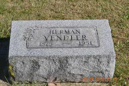 VENDLER, HERMAN - Branch County, Michigan   HERMAN VENDLER - Michigan Gravestone Photos