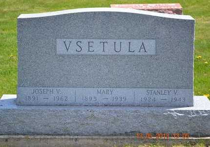 VSETULA, JOSEPH V. - Branch County, Michigan | JOSEPH V. VSETULA - Michigan Gravestone Photos