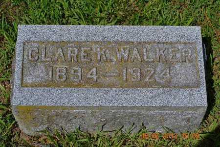 WALKER, CLARE - Branch County, Michigan | CLARE WALKER - Michigan Gravestone Photos