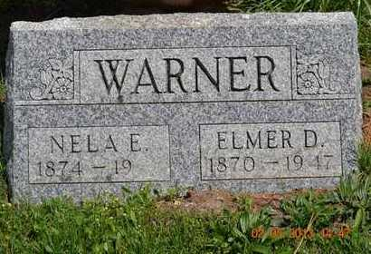 WARNER, ELMER D. - Branch County, Michigan | ELMER D. WARNER - Michigan Gravestone Photos