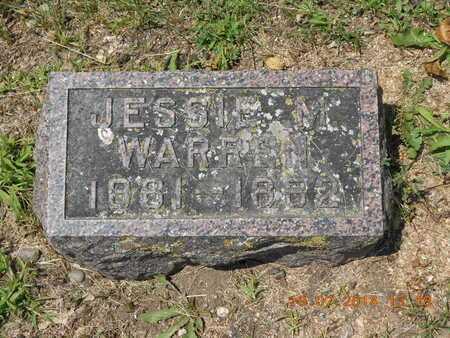 WARREN, JESSIE M. - Branch County, Michigan | JESSIE M. WARREN - Michigan Gravestone Photos