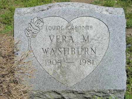 WASHBURN, VERA M. - Branch County, Michigan   VERA M. WASHBURN - Michigan Gravestone Photos