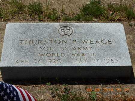 WEAGE, THURSTON P. - Branch County, Michigan | THURSTON P. WEAGE - Michigan Gravestone Photos