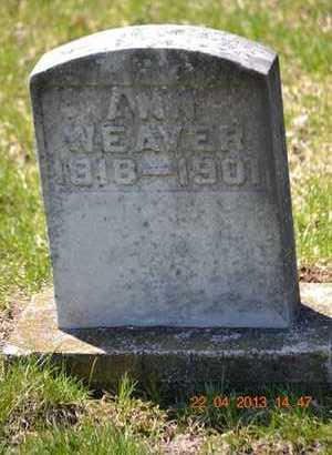 WEAVER, ANN - Branch County, Michigan | ANN WEAVER - Michigan Gravestone Photos
