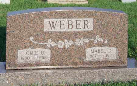 WEBER, MABEL - Branch County, Michigan | MABEL WEBER - Michigan Gravestone Photos