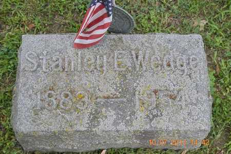WEDGE, STANLEY E. - Branch County, Michigan | STANLEY E. WEDGE - Michigan Gravestone Photos