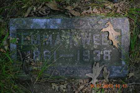 WEED, EMMA - Branch County, Michigan | EMMA WEED - Michigan Gravestone Photos