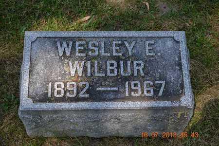 WILBUR, WESLEY E. - Branch County, Michigan   WESLEY E. WILBUR - Michigan Gravestone Photos