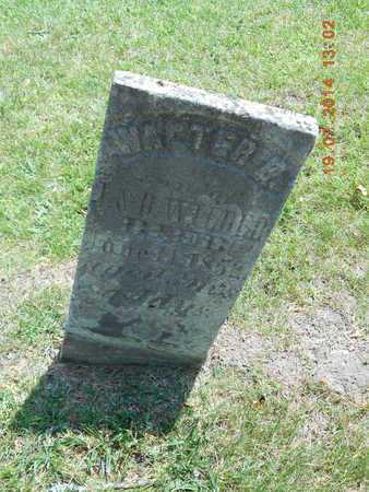 WILDER, WALTER G. - Branch County, Michigan | WALTER G. WILDER - Michigan Gravestone Photos