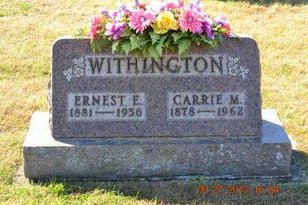 WITHINGTON, ERNEST E. - Branch County, Michigan | ERNEST E. WITHINGTON - Michigan Gravestone Photos