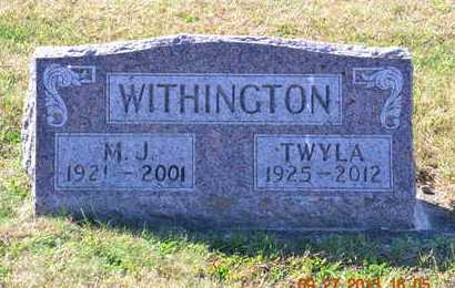WITHINGTON, TWYLA - Branch County, Michigan | TWYLA WITHINGTON - Michigan Gravestone Photos