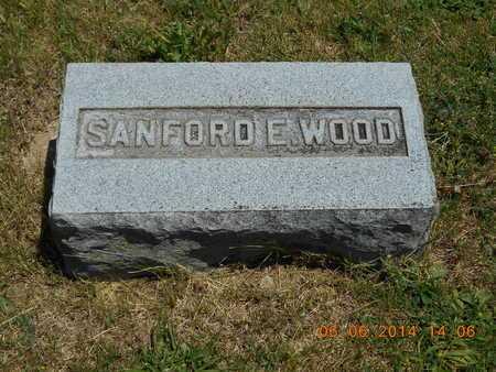 WOOD, SANFORD E. - Branch County, Michigan   SANFORD E. WOOD - Michigan Gravestone Photos