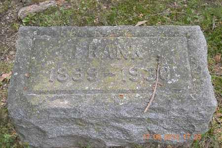WOODMASTER, FRANK - Branch County, Michigan | FRANK WOODMASTER - Michigan Gravestone Photos