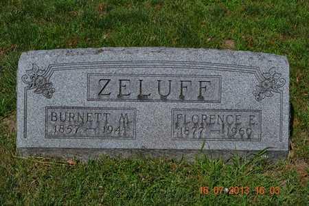 ZELUFF, FLORENCE - Branch County, Michigan | FLORENCE ZELUFF - Michigan Gravestone Photos