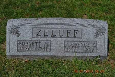 ZELUFF, BURNETT - Branch County, Michigan | BURNETT ZELUFF - Michigan Gravestone Photos