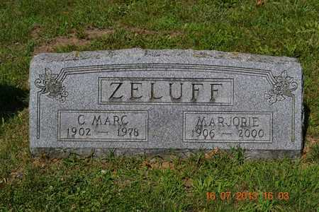 ZELUFF, MARJORIE - Branch County, Michigan | MARJORIE ZELUFF - Michigan Gravestone Photos