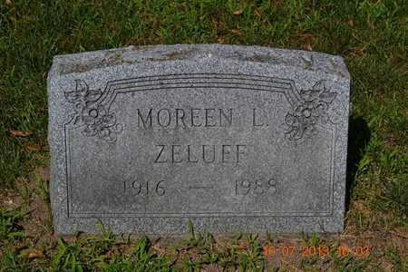 ZELUFF, MOREEN - Branch County, Michigan | MOREEN ZELUFF - Michigan Gravestone Photos