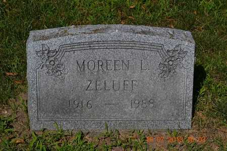 ZELUFF, MOREEN - Branch County, Michigan   MOREEN ZELUFF - Michigan Gravestone Photos