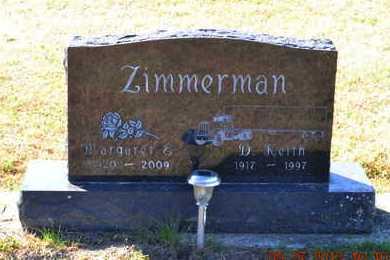 ZIMMERMAN, D. KEITH - Branch County, Michigan | D. KEITH ZIMMERMAN - Michigan Gravestone Photos