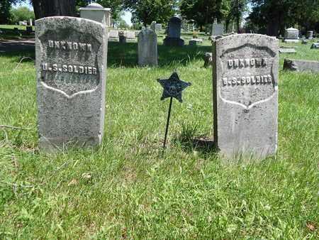2 UNKNOWN, CIVIL WAR SOLDIERS - Calhoun County, Michigan   CIVIL WAR SOLDIERS 2 UNKNOWN - Michigan Gravestone Photos