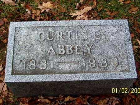 ABBEY, CURTIS C - Calhoun County, Michigan | CURTIS C ABBEY - Michigan Gravestone Photos