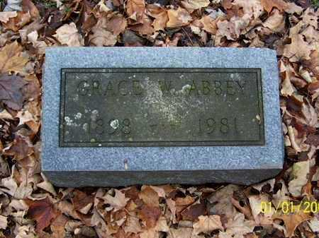 ABBEY, GRACE W - Calhoun County, Michigan | GRACE W ABBEY - Michigan Gravestone Photos