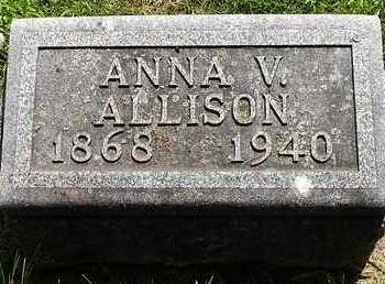 ALLISON, ANNA V. - Calhoun County, Michigan   ANNA V. ALLISON - Michigan Gravestone Photos
