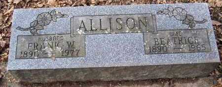 ALLISON, FRANK W - Calhoun County, Michigan | FRANK W ALLISON - Michigan Gravestone Photos
